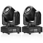 U`King 2PCS Stage Lights Moving Head Light 8 Gobos 8 Colors