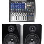 Presonus StudioLive AR12 14-Ch USB Live Sound/Recording Mixer+2) Studio Monitors
