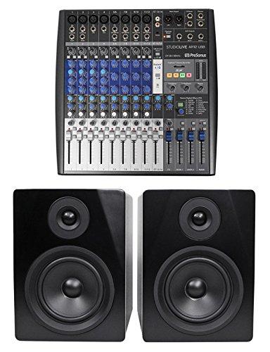 Presonus StudioLive USB Live Sound/Recording Mixer+2) Studio Monitors