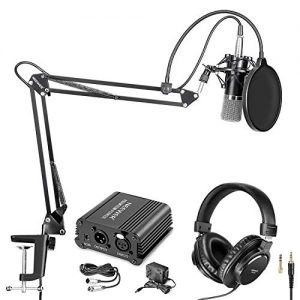 Neewer Pro Condenser Microphone and Monitor Headphones Kit