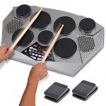 Pyle Pro Electronic Drum kit - Portable Electric Tabletop Drum Set