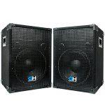 Grindhouse Speakers – GH12L-Pair – Pair of Passive 12 Inch 2-Way PA/DJ Loudspeaker Cabinets  – 700 Watt each  Full Range PA/DJ Band Live Sound Speaker