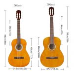 Strong Wind Classical Acoustic Guitar 39 Inch 4/4 Size 6Nylon Strings Guitar Beginner Kit for Students Children Adult 1