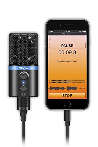 IK Multimedia iRig Mic Studio digital studio microphone for iPhone