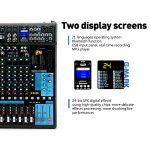 G-MARK Professional Audio Mixer Sound Board Console System Interface 16 Channel Digital USB Bluetooth MP3 Computer Input 48V Phantom Power Stereo DJ 24-Bit SPX effects 2