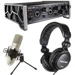 Tascam Trackpack 2×2 Complete Recording Studio Package for Mac/Windows Computers
