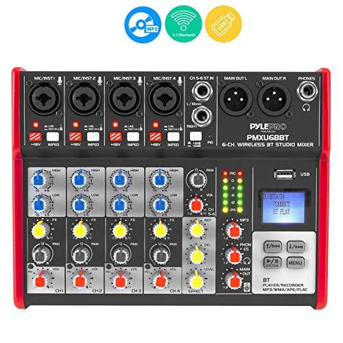PYLE Sound 6 Channel Bluetooth Compatible Professional Portable Digital