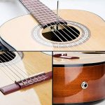 Classical Guitar, Classical Guitar Acoustic Electric 36 Inch 3/4 Professional Best Natural Color Nylon-String Guitars for Beginners, by Vangoa 3