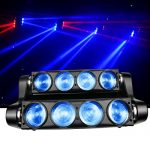 Spider Moving Head Strobe Light 100W,RGBW LED Stage Lighting, DMX DJ Light with Gobo Pattern for Party Disco Wedding KTV Club Party and More Performance Places 1