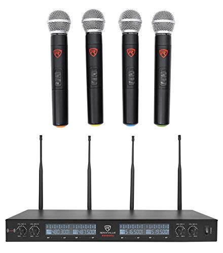 Rockville UHF (4) Wireless Handheld Microphones 4 Church Sound Systems