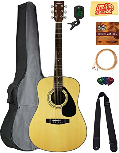 Yamaha Dreadnought Acoustic Guitar Bundle with Gig Bag