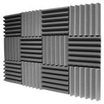 (96Pk) 2″x12″x12″ Charcoal Soundproofing Foam Sheets Acoustic Wall Panels Tiles Studio Foam Sound Proof Padding Wedges Insulation Sound Dampening Foam Recording Studio Equipment Sound Proof (6T)) 1