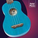 Hola! Music HM-21BU Soprano Ukulele Bundle with Canvas Tote Bag, Strap and Picks, Color Series, Blue 3