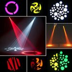 U`King 2PCS Stage Lights Moving Head Light 8 Gobos 8 Colors 11 Channels 25W Spotlight DMX 512 with Sound Activated for DJ Wedding Party Stage Lighting 2