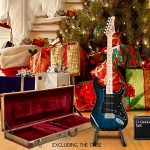 GLARRY Full Size Electric Guitar for Music Lover Beginner with 20W Amp and Accessories Pack Guitar Bag (Dark Blue) 1