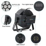 Stage Lights, YeeSite 36W LED Par Can RGB Mixed Effect Sound Activated Stage Lighting with Remote and DMX Control, Uplights for Church Wedding Event DJ Party Christmas – 4 Pack 1