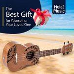 Hola! Music HM-121TT+ Laser Engraved Mahogany Soprano Ukulele Bundle with Aquila Strings, Padded Gig Bag, Strap and Picks – Tribal Tattoo 3