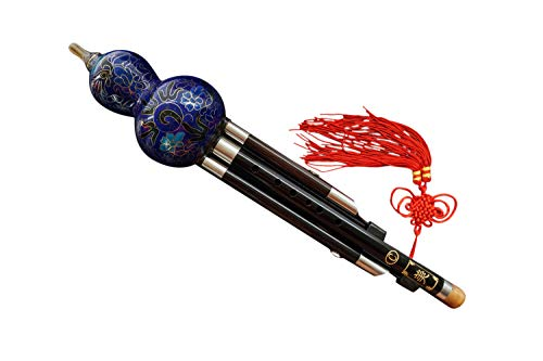 Ebony Cloisonne 3 Octaves Hulusi Flute Woodwind