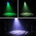 U`King Moving Head Light 60W DMX512 4 in 1 Color Stage Lighting Kaleidoscope Gobo Patterns Wash Lights by Sound Activated Control Professional 14/16CH for Wedding DJ Disco Party Show 1