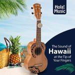 Hola! Music HM-121TT+ Laser Engraved Mahogany Soprano Ukulele Bundle with Aquila Strings, Padded Gig Bag, Strap and Picks – Tribal Tattoo 2