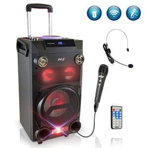 Pyle Outdoor Portable Wireless Bluetooth Karaoke PA Loud speaker