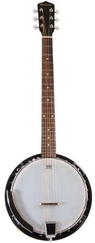 6 String Banjo Guitar with Closed Back Resonator