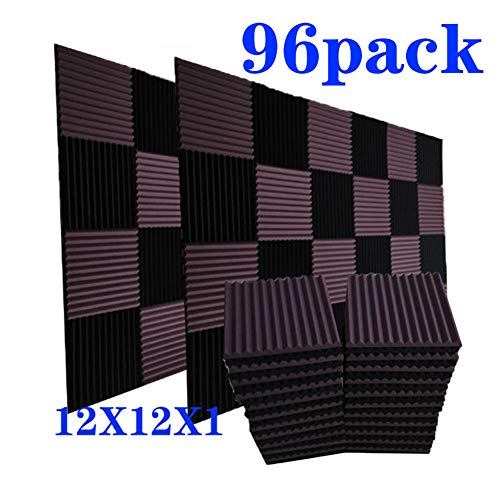 96 Pack Acoustic Panels Soundproof Studio Foam for Walls Sound