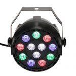 Lixada 10 Packs DMX-512 RGBW LED Stage PAR Light Strobe Professional 8 Channel Party Disco DJ Show 15W AC 100-240V 1