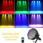 U`King Stage Lights 36 LED Par Lights Indoor for Party Wedding With Remote and DMX Control Sound Activated RGB Party Lights (4 Pack) 1