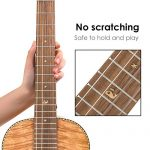 Classical Ukulele Kit Tiger Flame Okoume Wood for Beginner and Professional Player By Kmise (30 Inch Baritone) 3
