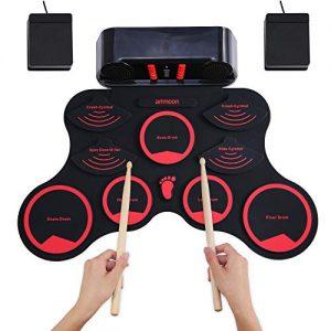 ammoon Electronic Roll-up Drum Set Digital MIDI Drum Kit