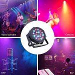 LED Par Light-Nurxiovo 4PCS DMX Stage Lights LED Par Lighting 18x3W Club Lighting Package Sound 7 Channel for Stage RGB Light Club DJ Party Diso Show KTV 2