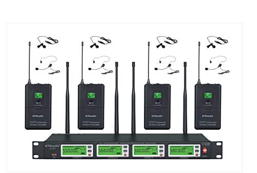 GTD Audio 4x800 Channel Selectable Frequency UHF Diversity Wireless Lavalier