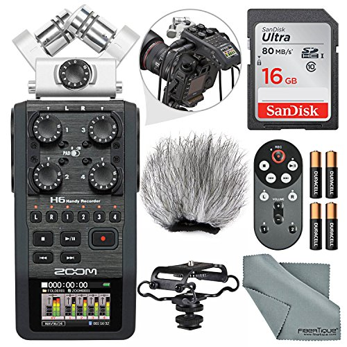 Zoom H6 Portable Recorder with Interchangeable Mic System Bundle
