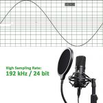 USB Microphone Kit 192KHZ/24BIT with Aluminum Organizer Storage Case MAONO AU-A04TC PC Condenser Podcast Streaming Cardioid Mic Plug & Play for Computer, YouTube, Gaming Recording 2