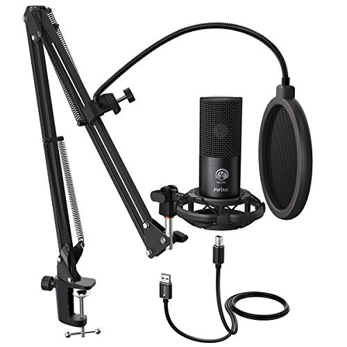 FIFINE Studio Condenser USB Microphone Computer PC Microphone Kit