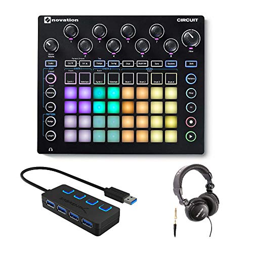 Novation Circuit Groove Box Drum Machine Bundle