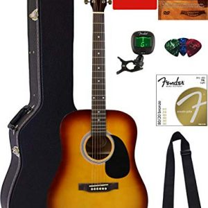 Fender Squier Dreadnought Acoustic Guitar - Sunburst Bundle