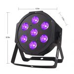 LED Stage Lights Package, 7LEDs x 10W LED Par Lights 4-in-1 RGBW LED Stage Wash Lights by Power Linking Sound Activated and LED DMX Wash Lights for Wedding DJ Christmas Party Stage Lighting (4 PCS) 1