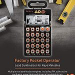 Teenage Engineering PO-16 Pocket Operator Factory Lead and Chord Synthesizer Bundle with Samson SR350 Over-Ear Closed-Back Headphones, Blucoil 3-Pack of 7″ Audio Aux Cables, and 4 AAA Batteries 1
