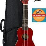 Fender Venice Soprano Ukulele - Cherry Bundle with Hard Case