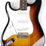 Left Handed 3/4 Size Beginner Electric Guitar Package Sunburst with Amp, Strap and Carry Bag SX RST 3/4 LH 3TS 2