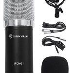 Rockville Studio Recording Microphone+40 Boom Arm+Desk Clamp+Mount+Headphones 1