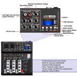 Depusheng HT4 Professional 4 Channel USB Jack Portable Audio Mixer Bluetooth Live Studio Audio DJ Sound Mixing Console 1