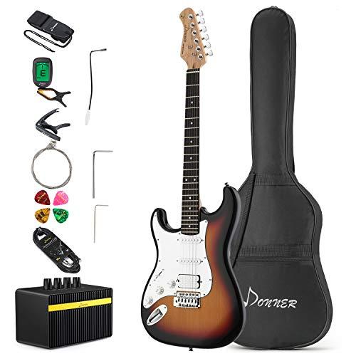 Donner Full-Size 39 Inch Electric Guitar Sunburst