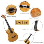 26inTenor Ukulele Start Kit for Adults, Strong Wind Mahogany Body Hawaiian Ukeleles for Beginners, Professional Music Instrument Beginners Kit with Gig Bag 1