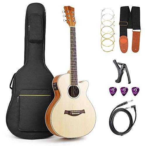 Acoustic Guitar, Cutaway Acoustic Guitar Electric 36 Inch