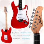 PylePro Full Size Electric Guitar Package w/ Amp, Guitar Bundle, Case & Accessories, Electric Guitar Bundle, Beginner Starter Package, Strap, Tuner, Pick, Ready to Use Out of the Box, Red (PEGKT15R) 1