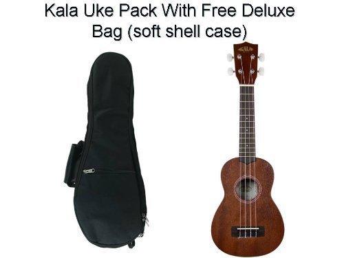 Kala Mahogany Soprano Ukulele with FREE Deluxe Stronghold brand soprano