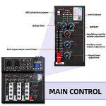 Depusheng HT4 Professional 4 Channel USB Jack Portable Audio Mixer Bluetooth Live Studio Audio DJ Sound Mixing Console 2